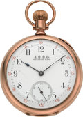 Timepieces:Pocket (pre 1900) , Waltham Very Fine Gold 19 Jewel Model 88, circa 1893. ...