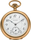 Timepieces:Pocket (post 1900), Waltham 18k Gold Model 1894 American Watch Co. 21 Jewel BridgeModel . ...