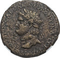 Ancients:Roman Imperial, Ancients: Nero (AD 54-68). Orichalcum sestertius (25.14 gm). NGCChoice VF 4/5 - 3/5....