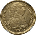Colombia, Colombia: Charles IV gold 2 Escudos 1790 P-SF XF45 NGC,...