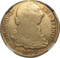 Colombia, Colombia: Charles IV gold 4 Escudos 1790 P-SF VF Details (ObverseTooled) NGC,...