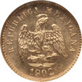 Mexico, Mexico: Republic gold Peso 1902 Mo-M MS65 NGC,...