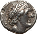 Ancients:Greek, Ancients: PTOLEMAIC EGYPT. Ptolemy I Soter (305-285 BC). ARtetradrachm (14.19 gm). Nearly XF, countermark, bankers mark....