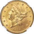 Liberty Double Eagles, 1893-CC $20 MS62 NGC. CAC. Variety 2-A....