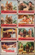 "Movie Posters:War, The Bridge on the River Kwai (Columbia, 1958/R-1972). Lobby CardsSet of 8 (11"" X 14"") & One Sheet (27"" X 41""). War.. ... (Total:9 Items)"