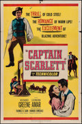 "Movie Posters:Adventure, Captain Scarlett & Other Lot (United Artists, 1953). One Sheets(2) (27"" X 41""). Adventure.. ... (Total: 2 Items)"