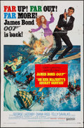 "Movie Posters:James Bond, On Her Majesty's Secret Service (United Artists, 1970).International One Sheet (27"" X 41"") Style B. James Bond.. ..."