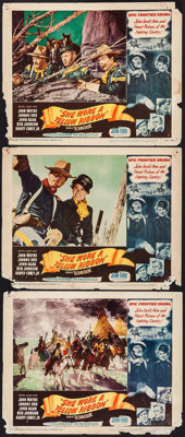 "She Wore a Yellow Ribbon (RKO, 1949). Lobby Cards (3) (11"" X 14""). Western. ... (Total: 3 Items)"
