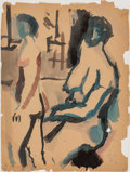 Post-War & Contemporary:Contemporary, Bob Thompson (1937-1966). Untitled, 1958. Watercolor onpaper. 23-1/4 x 17-1/2 inches (59.1 x 44.5 cm) (sheet). Signed a...