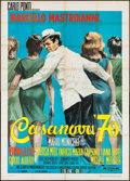 "Movie Posters:Foreign, Casanova '70 (Euro International Films, 1965). Italian 4 - Fogli (54.25"" X 76""). Foreign.. ..."