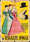 "Movie Posters:Foreign, Girls of Today (Minerva, 1955). Italian 4 - Fogli (55.25"" X 78"")Ercike Brini Artwork. Foreign.. ..."