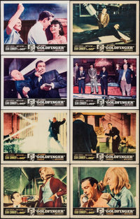 "Goldfinger (United Artists, 1964). Lobby Card Set of 8 (11"" X 14""). James Bond. ... (Total: 8 Items)"