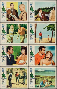 "Dr. No (United Artists, 1962). Lobby Card Set of 8 (11"" X 14""). James Bond. ... (Total: 8 Items)"