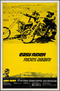 "Movie Posters:Drama, Easy Rider (Columbia, R-1972). One Sheet (27"" X 41"") & LobbyCard. Drama.. ... (Total: 2 Items)"