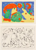 Prints:European Modern, Joan Miró (1893-1983). Untitled, from Suite pou UbuRoi (two works), 1966. Lithographs on Arches paper. 16-1/4 x24-... (Total: 2 Items)