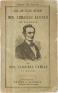 Political:Small Paper (pre-1896), Abraham Lincoln: Campaign Biography in Pictorial Wraps....