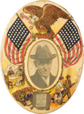 Political:Pinback Buttons (1896-present), Woodrow Wilson: Large, Oval Patriotic Button....