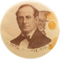 Political:Pinback Buttons (1896-present), William Jennings Bryan: Previously Unknown Unique Eclipse Pin....
