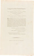 Autographs:Statesmen, Printed Act of Congress Amending an Act for the Establishment andSupport of Lighthouses, et al. Signed in Type by George Wash...