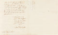 Miscellaneous:Ephemera, Samuel Huntington: An Autograph Letter by the Man Who was Arguablythe First American President....