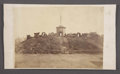 Military & Patriotic:Civil War, PHOTOGRAPH MEN POSED ON THE CITICO MOUND 1865....
