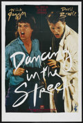 "Movie Posters:Rock and Roll, Dancing in the Street (Music Motions, late 1980s). Music Poster(27"" X 41""). Rock and Roll. Starring Mick Jagger and David B..."