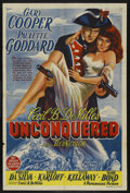 "Movie Posters:Adventure, Unconquered (Paramount, 1947). Australian One Sheet (26.5"" X 40"").Adventure. ...."