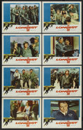 "Movie Posters:War, The Longest Day (20th Century Fox, 1962). Lobby Card Set of 8 (11""X 14"") and Program (22 pages, 8.5"" X 11.5""). War. ... (Total: 9Items)"