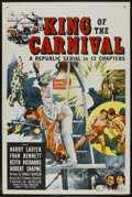 """Movie Posters:Serial, King of the Carnival (Republic, 1955). One Sheet (27"""" X 41"""").Serial. ..."""