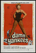 "Movie Posters:Musical, Damn Yankees (Warner Brothers, 1958). One Sheet (27"" X 41""). Musical. ..."