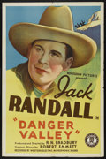 "Movie Posters:Western, Danger Valley (Monogram, 1937). One Sheet (27"" X 41""). Western. ..."