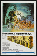 """Movie Posters:Fantasy, When Dinosaurs Ruled the Earth (Warner Brothers, 1970). One Sheet (27"""" X 41""""). Fantasy. ..."""