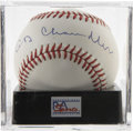 Autographs:Baseballs, Happy Chandler Single Signed Baseball, PSA Mint 9. Exceptionalsingle from Hall of Fame executive Happy Chandler. Ball has b...