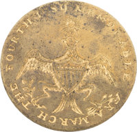 """George Washington: Inaugural Brass Clothing Button: A Stunning Example of the 1789-dated """"Memorable Era"""" Varie..."""