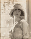 Photographs, Baron Adolf de Meyer (French, 1868-1949). Untitled (Portrait of a Woman). Gelatin silver. 9-1/2 x 7-1/4 inches (24.1 x 1...