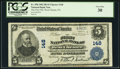 National Bank Notes:Pennsylvania, West Chester, PA - $5 1902 Plain Back Fr. 598 The First NB Ch. #148. ...