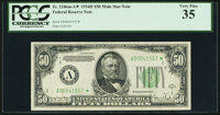 Fr. 2106-A* $50 1934D Mule Federal Reserve Note. PCGS Very Fine 35