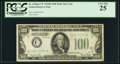 Fr. 2156-C* $100 1934D Mule Federal Reserve Note. PCGS Very Fine 25