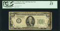 Small Size:Federal Reserve Notes, Fr. 2155-I* $100 1934C Mule Federal Reserve Note. PCGS Fine 15.. ...
