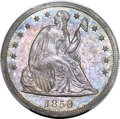Seated Dollars, 1850 $1 MS63 PCGS. OC-1, R.3,...