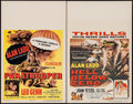 "Movie Posters:War, Paratrooper & Other Lot (Columbia, 1953). Window Cards (2) (14""X 22""). War.. ... (Total: 2 Items)"