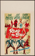 """Movie Posters:Comedy, Road to Bali (Paramount, 1952). Window Card (14"""" X 22""""). Comedy....."""