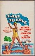 """Movie Posters:Musical, Easy to Love (MGM, 1953). Window Card (14"""" X 22""""). Musical.. ..."""