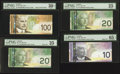 Canadian Currency: , A Quartet of Fancy Serial Number Canadian Notes.. ... (Total: 4 notes)