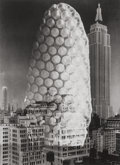 Photographs, Barbara Morgan (American, 1900-1992). Wind Bee Honeycomb Skyscraper and Protest (two photographs), 1973; 1940. Gelat... (Total: 2 Items)