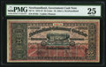 Canadian Currency: , St. John's, NF- Newfoundland Government Cash Note 25¢ 1912-13 Ch. # NF-7c.. ...