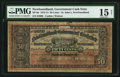 Canadian Currency: , St. John's, NF- Newfoundland Government Cash Note 50¢ 1913-14 Ch. #NF-8d.. ...