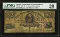 Canadian Currency: , St. John's, NF- Union Bank of Newfoundland $2 May 1, 1882 Ch. #750-16-02.. ...