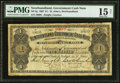 Canadian Currency: , St. John's, NF- Newfoundland Government Cash Note $1 1907 Ch. #NF-5g.. ...
