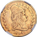 Early Quarter Eagles, 1804 $2 1/2 14 Stars Reverse, BD-2, R.4 -- Improperly Cleaned --NGC Details. XF....